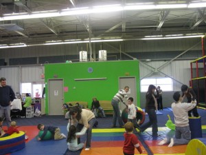 boys/girls restrooms in play area