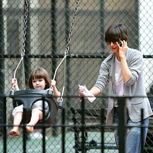 Suri Cruise at a NYC playground (People.com)