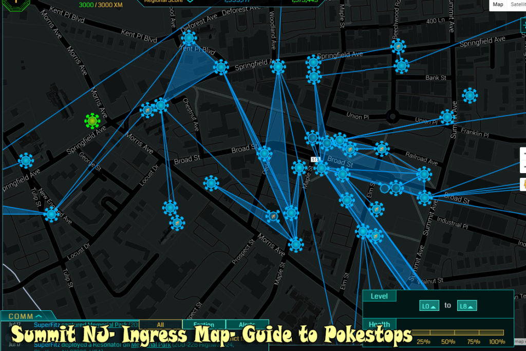 Ingress Map of Summit NJ