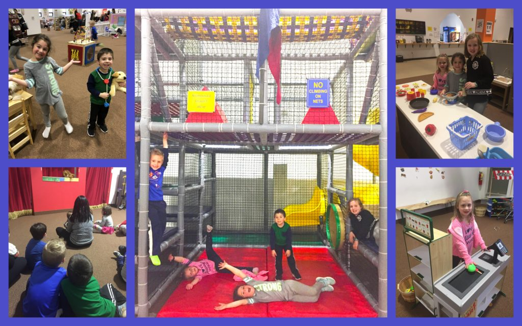 Pics of Puppet show, Grocery/Diner, and Jungle Gym- A Fun Day was had by all!