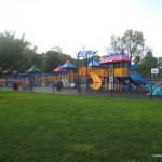 The playground by the basketball courts at Votee.