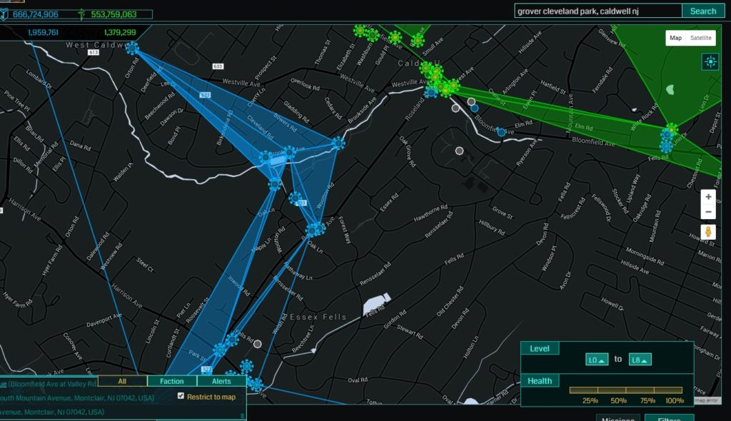 Grover Cleveland Park Area Ingress Map