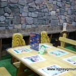 3. Tables and chairs with plug in