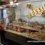 This whimsical railroad offers tons of opportunities for eye-spy and find it games