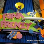 Even the sign over the door to foam frenzy is fun