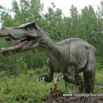 4. Dino in woods