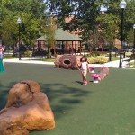 "Cute ""natural"" playground features (fake logs/rocks)"