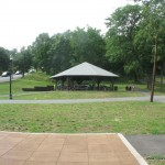 Huge Gazebo (occupied by Campers today)