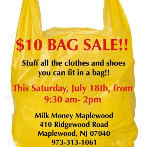 7/18 Bag Sale at Maplewood's Milk Money