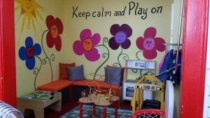 Milk Money - Maplewood NJ- What a cute playroom for the kids to enjoy while you shop!