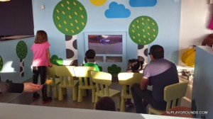 View 1 of little TV spot in cafeteria
