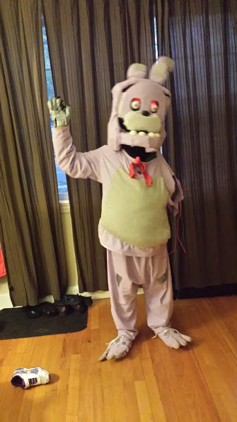 Eric in his Withered Bonnie Costume before the school celebration