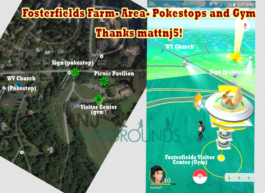 fosterfields pokestop map