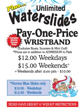 Prices for Wristbands (2016)