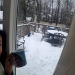 Snow in Union County NJ- Yes, I have a Chewbacca mug...